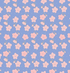 Seamless pattern with Sakura branches vector image