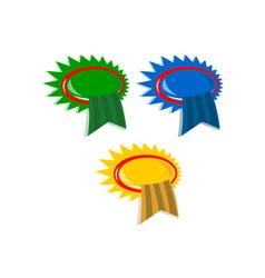 Set of Ribbon Award vector image