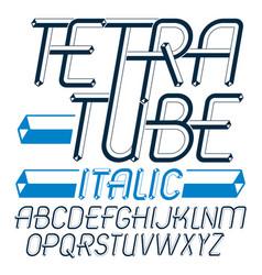 Set of trendy fun capital english alphabet vector