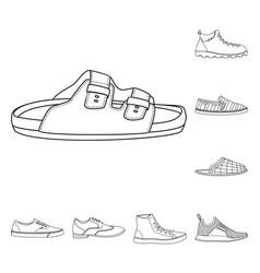 Shoe and footwear symbol vector