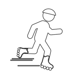 skating person pictogram icon vector image