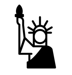 statue liberty solid vector image