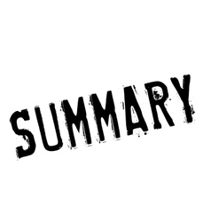 Summary stamp rubber grunge vector