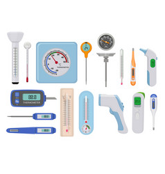 Thermometers hospital medical temperature measure vector