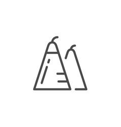 triangular firecracker line outline icon vector image