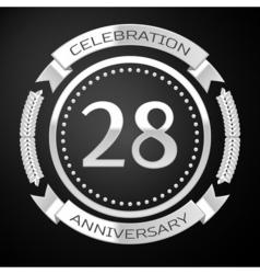 Twenty eight years anniversary celebration with vector