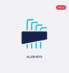 Two color allen keys icon from construction vector