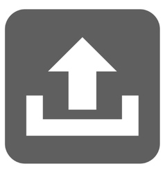 Upload Flat Squared Icon vector