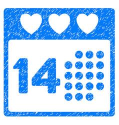 Valentine love day grunge icon vector
