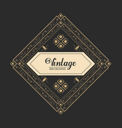 vintage and exclusive luxury legant badge dark vector image