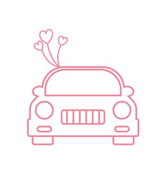 wedding car icon design template isolated vector image