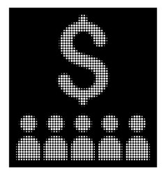 white halftone business education icon vector image