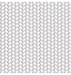 White Seamless Wicker Pattern vector image