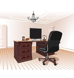 workplace in room vector image vector image