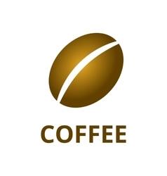 coffee bean logo vector image