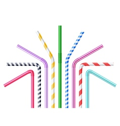 Drinking Straws Realistic vector image vector image