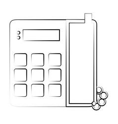 landline phone with blank keys icon image vector image