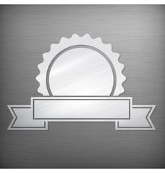 Metallic award sign on grey vector image vector image