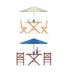 outdoor table and chairs vector image