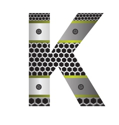 perforated metal letter K vector image