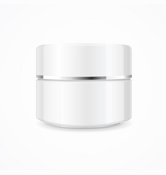 realistic cream can cosmetic product vector image