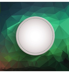 White Button - App Icon Template vector image