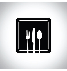 black square plate vector image vector image