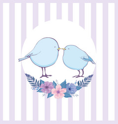colorful bird collection collection of cute hand vector image vector image