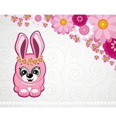 Easter greeting card the rabbit vector image