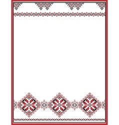 Embroidery abstract template frame for your vector image vector image