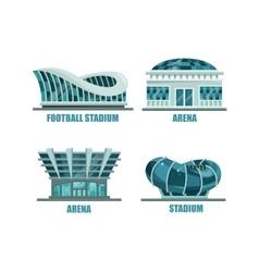 Glassware futuristic football or soccer stadium vector image