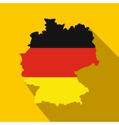 Map of Germany with flag of Germany icon vector image