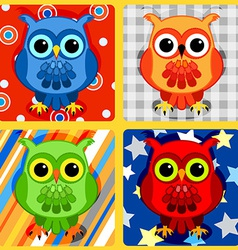 Seamless patchwork birds-3 vector image