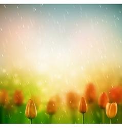 Summer rain vector image vector image