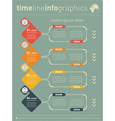 Web template for diagram or presentation with vector