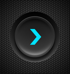 black button with blue fast forward sign on vector image