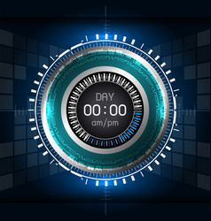 cyber digital timer vector image