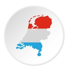 Map of Holland icon flat style vector image