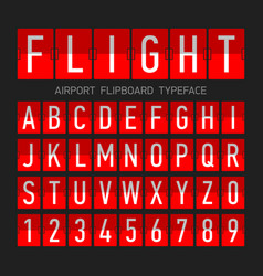 airport flipboard flat style font mechanical vector image vector image