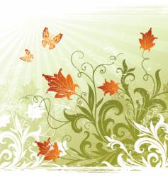 floral decorative vector image vector image