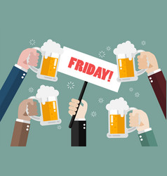 friday party vector image