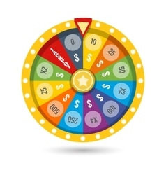 Lucky fortune game wheel vector image vector image