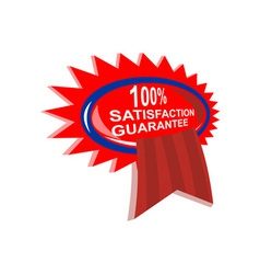100 satisfaction guaranteed vector