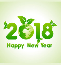 2018 greeting for new year celebration vector image