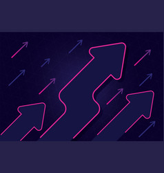 abstract growth arrow with blue and pink color de vector image
