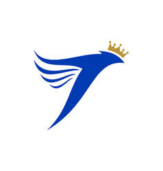 abstract king bird logo icon concept vector image