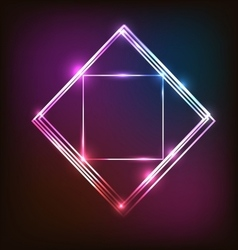 Abstract neon background with squares vector