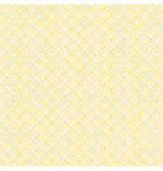 abstract yellow hexagon border pattern background vector image