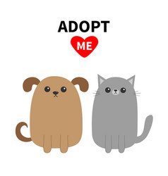 Adopt me dont buy dog cat pet adoption puppy vector