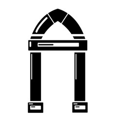 Archway decorative icon simple black style vector